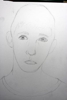 Portrait project 4/16: Middle Brother WIP by Sabhira