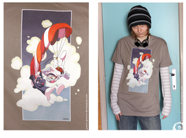 Gnapy and Flying Smurf by student-yuuto Shirt by Icarus-Skollsun