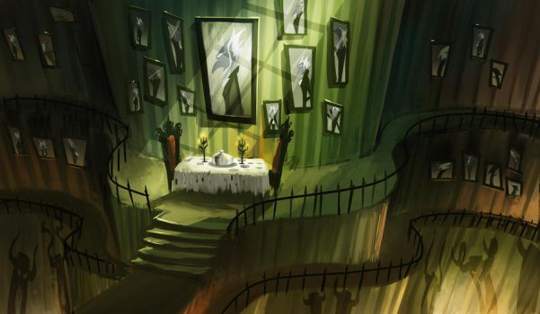 Psychonauts tribute: The Narcissist's Lair by Tomsleeps