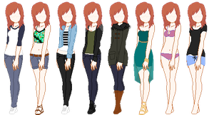 Hannah Outfits by yukicaster
