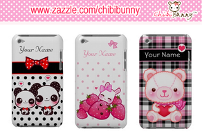 Customizable kawaii Ipod Touch cases by BunnyAndI