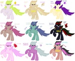 MLP Mixed Point Adoptables by SJArt117