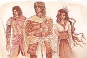 Young Martells: Oberyn, Doran and Elia by SephyStabbity