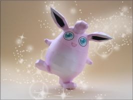 Wigglytuff Papercraft by Skele-kitty
