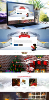 Minecraft Christmas website concept by DABEstudio