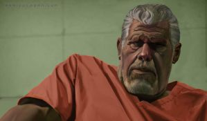 Ron Perlman as Clay Morrow form Sons of Anarchy by TheSprayah