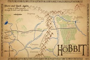 The Hobbit Map by Xiphos71
