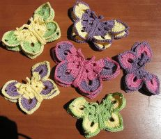 Crochet 3D Butterfly Egyptian Cotton by doilydeas