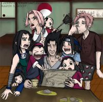 Uchiha Family Breakfast by carrinth