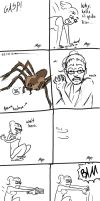 Spider NON-friend by gutter-child