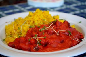 Beetroot Curry with sweetpotato by Sintorion