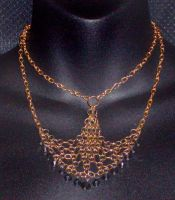 Gold and Black Chainmail by MorganCrone