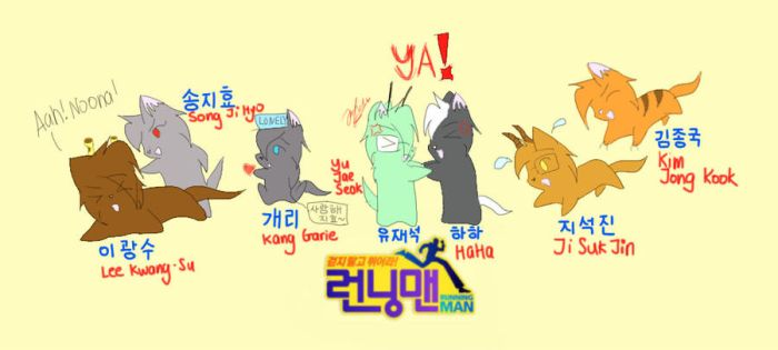 Running Man Cast Cat Form by JayEve