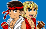Chibi Ryu and Ken by IzIzIza