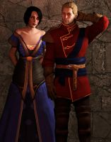 Warden Commander Amell takes Halamshiral by Mageflower