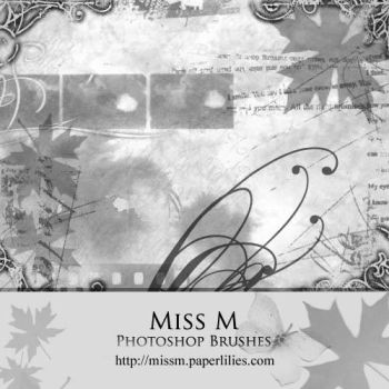 Miss M . photoshop brushes by silent-reverie