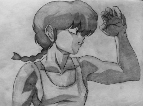 my old drawing of Ranma by Clarissa96