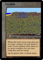 terraria land card by OmegaHawke