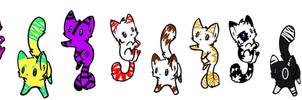 Big batch of Cat adopts 1-OPEN!! (2 points each) by AchievementHuntress