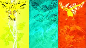 Electric, Ice, Fire trios. by evilefoserp