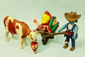 Z.A.P. 2 Day 4 Fester the Farmer and the Mad Cow by zombiemonkie