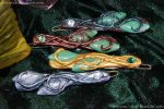 Leaf Hairclips - More Colours by JSmallDragon