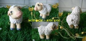 My little Pony Custom Lamb BAH BAH by BerryMouse