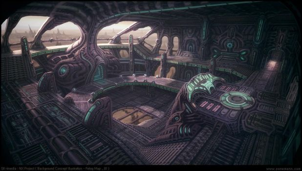 Alien Spaceship by penemenn