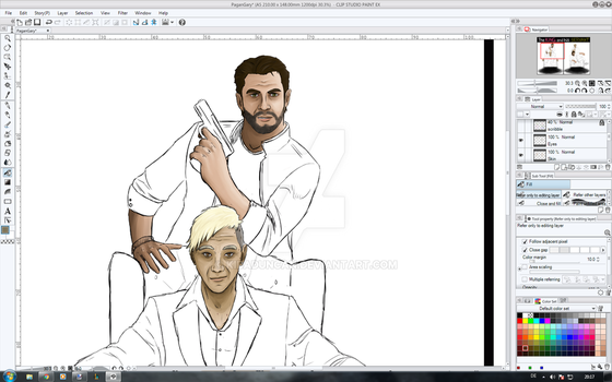 Pagan Min And Jacob 'Gary' Finch - WIP #2 by KibaDuncan