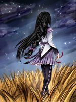 Homura - loneliness and sadness go hand in hand by TrisVita