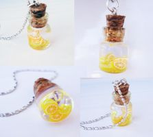 Lemons and Oranges - mini bottle by FrozenNote