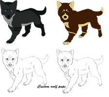Wolf pups for sale by AngelWolfsRevenge