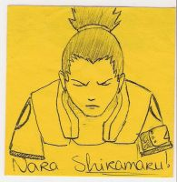 Nara Shikamaru on a Post it 8D by AryaHiwatari