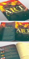 The Art of Worship Church Bulletin Template by loswl