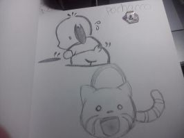 Pichacco? and kittybag from.. by xLinaChan07x