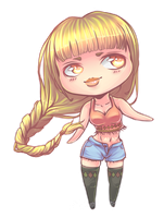 OC Faona chibi version by Ke-ha