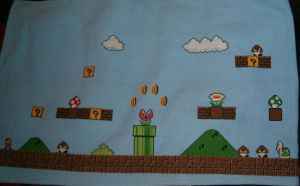 Huge Mario Cross Stitch WIP 3 by sgoheen06