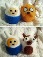 Needle felted Adventure Time on sale! by P-isfor-Plushes