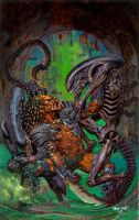 Aliens vs Predator by GlennFabry