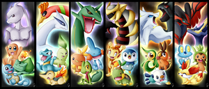 Pokemon all generation by Exceru-Hensggott