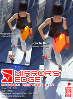 Mirror's Edge Recycle Bin by BloodyMoogle