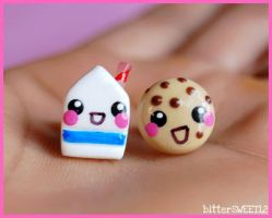 Milk N Cookie Studs by bitterSWEETones