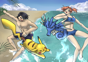Beach Battle by CaTai