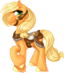 Carousel Applejack by KittehKatBar