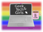 Special LGBT day logo for geekAndTechGirls org by CristinaHG