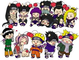 Colored Naruto Genin Moogles by wordongear