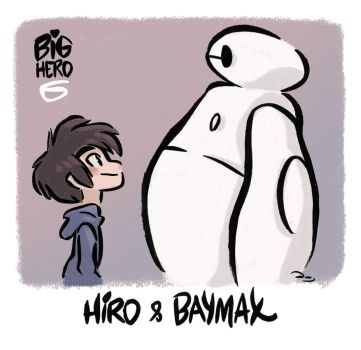 Big Hero 6 - Hiro and Baymax by princekido
