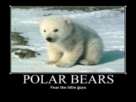 Polar bear motivational poster by Weirddudeguy
