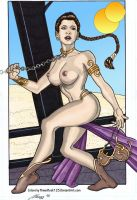 Topless Slave Leia by powerbook125