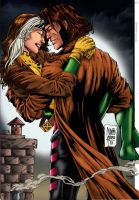 Rogue and Gambit. by Troianocomics